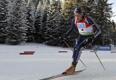 Tim Burke of the U.S. competes at the Biathlon World Cup men's 12.5 km pursuit competition in Pokljuka December 20, 2009.