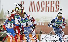 Moscow (Russian Federation), 06/04/2013.- Simon Fourcade (C) фото (photo)