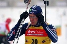 OBERHOF, GERMANY — JANUARY 09: Tim Burke of USA is seen at the shooting range prior to the Men's 10km Sprint in the e.on Ruhrgas IBU Biathlon World Cup on January 9, 2010 in Oberhof, Germany.
