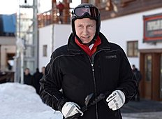 Russia's President Vladimir Putin visits the mountain Laura Cross Country and Biathlon Centre near the Black Sea resort of Sochi, on January 3, 2014...