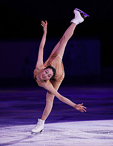 Зимние Олимпийские Игры 2014 в Сочи (Olympic Winter Games, Sochi, Russia): Mao Asada of Japan performs during the figure skating exhibition gala at the Iceberg Skating Palace during the 2014 Winter Olympics, Saturday, Feb. 22,...