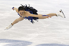 Зимние Олимпийские Игры 2014 в Сочи (Olympic Winter Games, Sochi, Russia): Mao Asada of Japan competes in the women's free skate figure skating finals at the Iceberg Skating Palace during the 2014 Winter Olympics, Thursday, Feb...