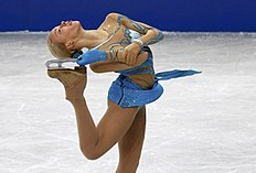 Russia's Pogorilaya competes during the women's free program at the ISU World Figure Skating Championships in Saitama