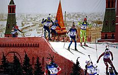 Biathlon Champions Race in Moscow