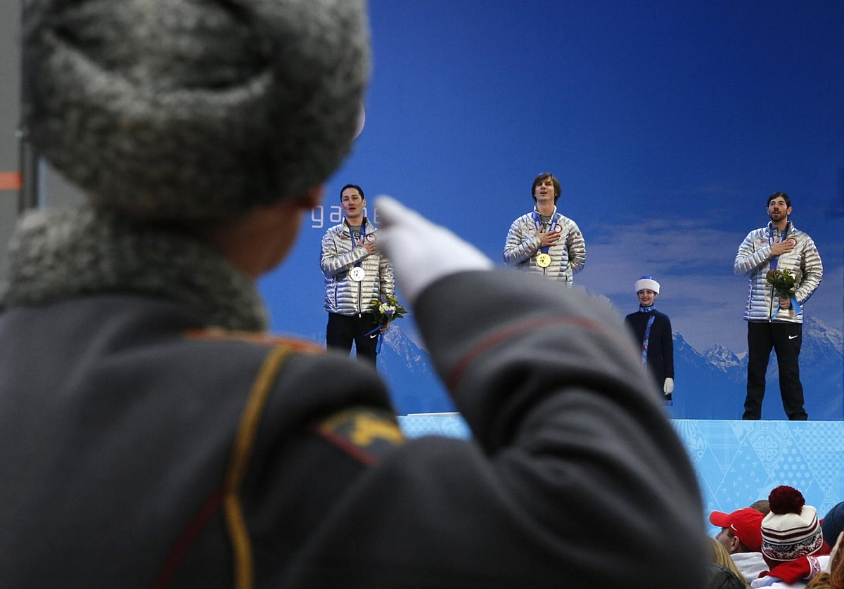 Snowboard (сноуборд): A Russian honor guard soldier salutes as фото (photo)