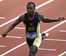 ������ �������� (track and field): Jarbas Maskarenhas from Brasil runs duri
