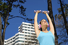 Fitness and sport lifestyle in city