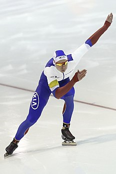 Russia's Pavel Kulizhnikov competes to win the men's 500 meters race of the World Cup Speed Skating at Thialf skating rink in Heerenveen, northern Netherlands,...