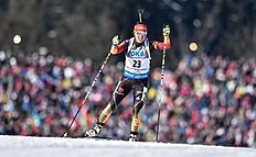 FIS_Nove Mesto (Czech Republic), 07/02/2015.- Laura Dahlmeier of Germany in action during the Women's 7,5km sprint race at the Biathlon World Cup...