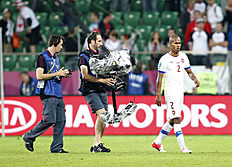 FILE � In this June 10, 2012, file photo, Czech Republic's Theodor Gebre Selassie walks from the pitch after the Euro 2012 soccer championship Group A...