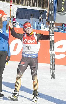 . Kontiolahti (Finland), 15/03/2015.- Semerenko Valj of Ukraine was first during the Women 12,5 Km Mass Start at the IBU World Cup Biathlon in Kontiolahti,...