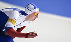 Russia's Kulizhnikov competes during the men's 1000m speed skating ISU World Cup Speed Skating Final competion in Erfurt