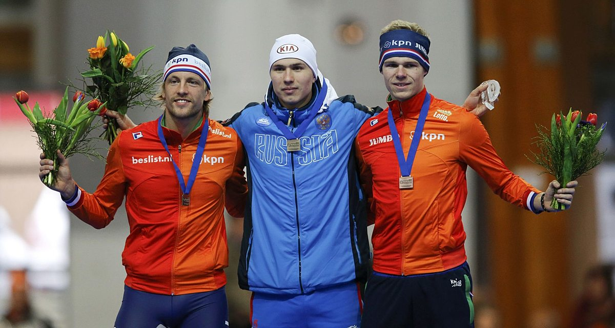Netherlands' Mulder, Russia's Kulizhnikov and Netherlands фото (photo)