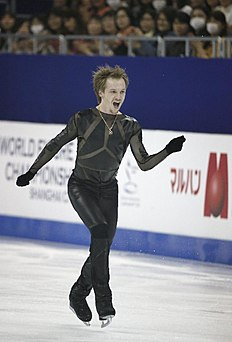 Sergei Voronov of Russia performs during the Men Free Skating event in the ISU World Figure Skating Championship 2015 held at the Oriental Sports Center...
