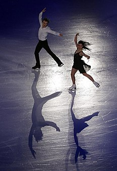 Elena Ilinykh and Ruslan Zhiganshin of Russia perform during the Exhibition event in the ISU World Figure Skating Championship 2015 held at the Oriental...