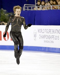 Shanghai (China), 28/03/2015.- Sergei Voronov from Russia performs during the Men's Free Skating of the 2015 ISU World Figure Skating Championships...