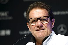 Russia's national soccer team coach Fabio Capello attends a news conference ahead of the Laureus World Sports Awards ceremony in Shanghai