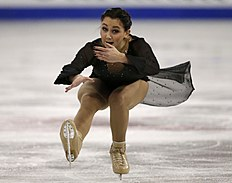 Elizaveta Tuktamysheva of Russia performs during the Ladies Short program at Skate Canada International in Lethbridge