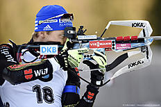 RUHPOLDING, GERMANY — JANUARY 8: (FRANCE OUT) Andreas Birnbacher of Germany competes during the IBU Biathlon World Cup Men's and Women's Sprint on January 8, 2016 in Ruhpolding, Germany.