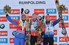 Austria's winner Simon Eder, center, France фото (photo)