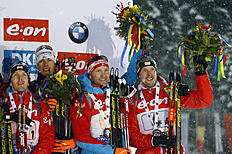 Norway wins men's World Cup biathlon relay ahead of Russia