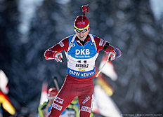 ANTHOLZ-ANTERSELVA, ITALY — JANUARY 22: Ole Einar Bjoerndalen of Norway in action during the Biathlon Men 10 km Sprint at the IBU Biathlon World Cup Antholtz on January 22, 2016 in Antholtz, Italy.