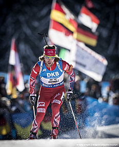 ANTHOLZ-ANTERSELVA, ITALY — JANUARY 22: Erlend Bjoentegaard of Norway in action during the Biathlon Men 10 km Sprint at the IBU Biathlon World Cup Antholtz on January 22, 2016 in Antholtz, Italy.