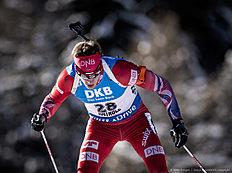 ANTHOLZ-ANTERSELVA, ITALY — JANUARY 22: Tarjei Boe of Norway in action during the Biathlon Men 10 km Sprint at the IBU Biathlon World Cup Antholtz on January 22, 2016 in Antholtz, Italy.