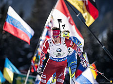 ANTHOLZ-ANTERSELVA, ITALY � JANUARY 24: Jon Helge Birkeland of Norway in action during the Biathlon Men's 4x7,5 km Relay at the IBU Biathlon World Cup Antholtz on January 24, 2016 in Antholtz, Italy.