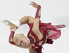 Anna Pogorilaya from Russia competes during her women's short program at the European Figure Skating Championships in Bratislava, Slovakia, Wednesday, Jan. 27, 2016. (AP Photo/Petr David Josek)