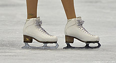 Ekaterina Bobrova of Russia competes in the ice dancing event of the European Figure Skating Championships in Bratislava on January 30, 2016. / AFP / SAMUEL KUBANI