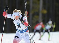 MS01. Canmore (Canada), 05/02/2016.- Second-place finisher Krystyna Guzik of Poland races in the Women's 7.5 km biathlon sprint event at the World Cup Biathlon in Canmore, Alberta, Canada, 05 February 2016. (Polonia) EFE/EPA/MIKE STURK
