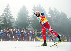 . Oslo (Norway), 06/02/2016.- Martin Johnsrud Sundby of Norway competes during the 50 km Classic Mass Start of the FIS Cross-Country World Cup in Holmenkollen, Oslo, Norway, 6 February 2016. (Noruega) EFE/EPA/Vegard Wivestad Grott NORWAY OUT