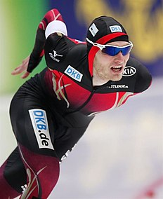 MOS. Kolomna (Russian Federation), 13/02/2016.- Patrick Beckert of Germany competes in the Men's 5000m race during the ISU World Single Distances Speed Skating Championships 2016 at the Kometa Stadium in Kolomna, Russia, 13 February 2016. (Rusia, Alemania) EFE/EPA/SERGEI ILNITSKY
