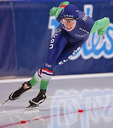 MOS. Kolomna (Russian Federation), 13/02/2016.- Jorrit Bergsma of Netherlands competes in the Men's 5000m race during the ISU World Single Distances Speed Skating Championships 2016 at the Kometa Stadium in Kolomna, Russia, 13 February 2016. Jorrit Bergsma of Netherlands won the Silver medal. (Pau00c3u00adses Bajos; Holanda, Rusia) EFE/EPA/SERGEI ILNITSKY