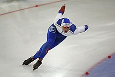 Russia's Pavel Kulizhnikov skates to win the men's 500-meter race of the World Sprint Speed Skating Championships in Seoul, South Korea, Saturday, Feb. 27, 2016. (AP Photo/Lee Jin-man)