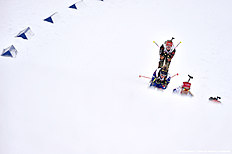 OSLO, NORWAY — MARCH 3: (FRANCE OUT) Marie Dorin Habert of France wins the gold medal, Tiril Eckhoff of Norway wins the silver medal during the IBU Biathlon World Championships Mixed Relay on March 3, 2016 in Oslo, Norway.