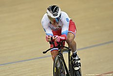 Russia's Viktor Manakov competes in the Men's Omnium 1km time trial during the 2016 Track Cycling World Championships at the Lee Valley VeloPark in London on March 5, 2016 / AFP / Eric FEFERBERG