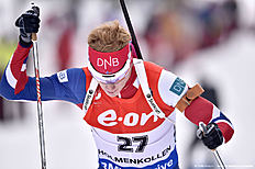 OSLO, NORWAY � MARCH 10: (FRANCE OUT) Johannes Thingnes Boe of Norway during the IBU Biathlon World Championships Men's 20km Individual on March 10, 2016 in Oslo, Norway.