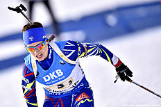 OSLO, NORWAY � MARCH 11: (FRANCE OUT) Anais Chevalier of France wins the silver medal during the IBU Biathlon World Championships Women's Relay on March 11, 2016 in Oslo, Norway.
