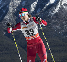 CANMORE, CANADA � March 11: Sophie Carrier-Laforte (CAN) during Cross Country Ladies 10.0 km Individual Free on March 11, 2016 in Canmore, Canada .