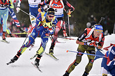 OSLO, NORWAY � MARCH 13: (FRANCE OUT) Martin Fourcade of france wins the silver medal during the IBU Biathlon World Championships Men's and Women's Mass Start on March 13, 2016 in Oslo, Norway.