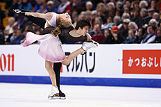 BOSTON, MA — MARCH 31: Alexandra Stepanova and Ivan Bukin of Russia skate in Free Dance Program during Day 4 of the ISU World Figure Skating Championships 2016 at TD Garden on March 31, 2016 in Boston, Massachusetts.
