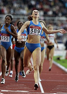 FILE — In this Tuesday, July 26, 2005 file photo Russian Tatyana Andrianova crosses the finish line to win the DN Galan 800m event in Stockholm. Numerous doping cases in track and field may go unpunished because the sportu00e2u0080u0099s governing body tested samples after their time limit had expired. One athlete who could benefit from the decision is Russian runner Tatyana Andrianova. She was banned by the IAAF in December after the steroid stanozolol was found in a sample from the day she won...
