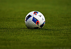 KHIMKI, RUSSIA � APRIL 17: Official ball on the field during the Russian Premier League match between FC Dinamo Moscow and FC Krylya Sovetov Samara on April 17, 2016 at Arena Khimki stadium in Moscow, Russia.