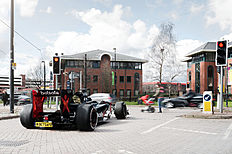 Betsafe «BGF1» F1 car on the streets of Manchester (Image: Betsafe)