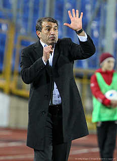 KAZAN, RUSSIA � APRIL 23: Head coach Rashid Rakhimov of FC Terek Grozny gestures during the Russian Premier League match between FC Rubin Kazan and FC Terek Grozny at the Tsentraliniy Stadium on April 23, 2016 in Kazan, Russia.