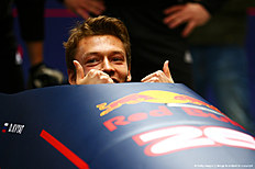 SOCHI, RUSSIA — APRIL 27: Daniil Kvyat of Russia and Red Bull Racing sits in a bobsleigh during previews to the Formula One Grand Prix of Russia at Sanki Sliding Centre on April 27, 2016 in Sochi, Russia.