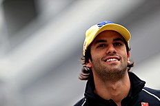 SOCHI, RUSSIA — APRIL 29: Felipe Nasr of Brazil and Sauber F1 in the Paddock during practice for the Formula One Grand Prix of Russia at Sochi Autodrom on April 29, 2016 in Sochi, Russia. (Photo by Mark Thompson/Getty Images)