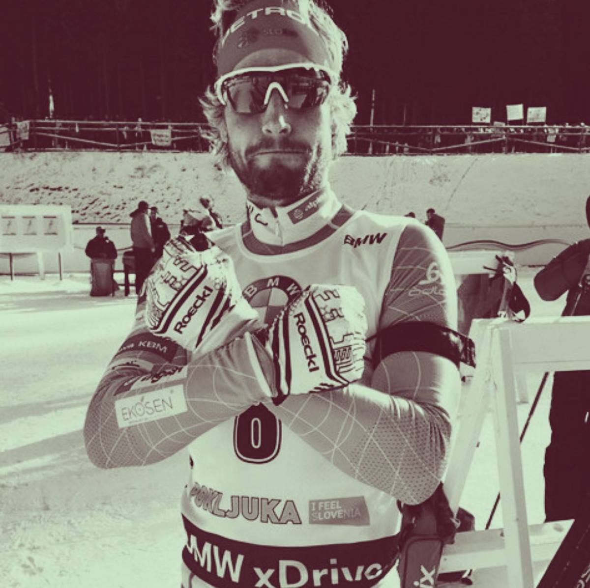 Klemen after a great race at Pokljuka.